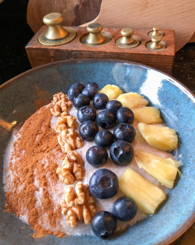 Boekweitgrutten,  fruit en noten